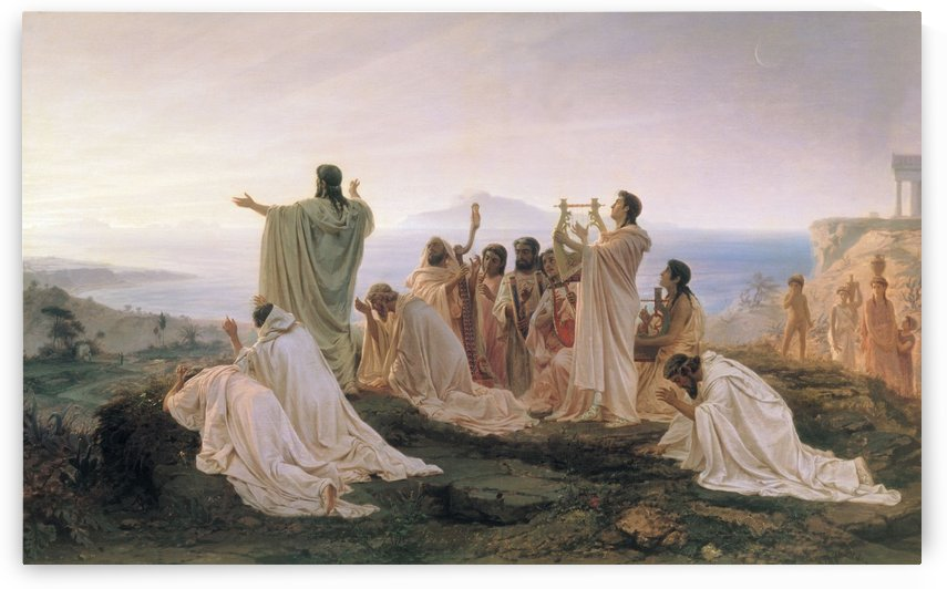 Pythagoreans Celebrate the Sunrise by Fyodor Bronnikov