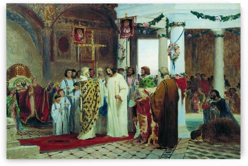 Religious procession by Fyodor Bronnikov