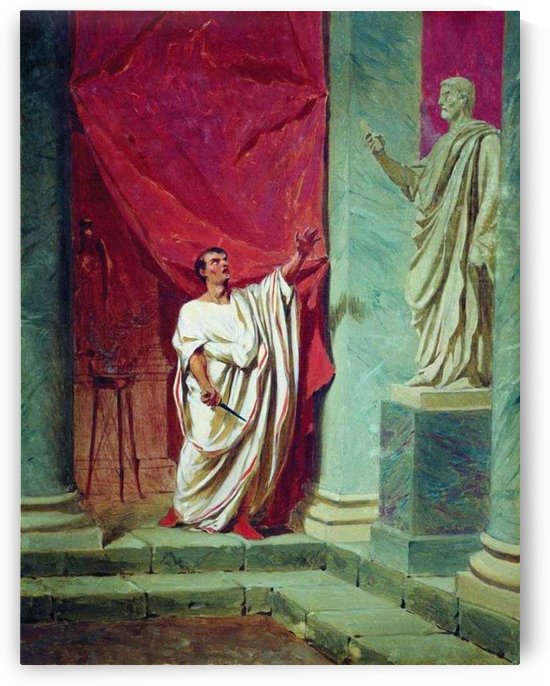 The Oath of Brutus before the statue by Fyodor Bronnikov
