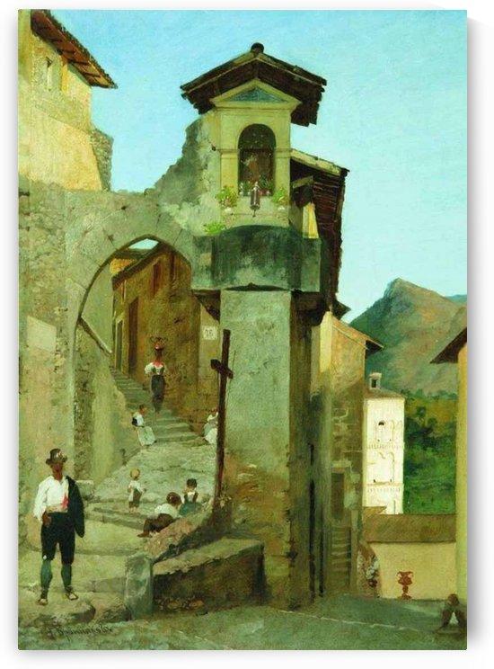 Italian courtyard by Fyodor Bronnikov