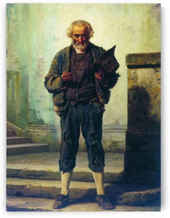The old beggar by Fyodor Bronnikov