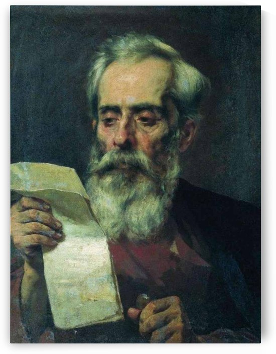 The old man reading a letter by Fyodor Bronnikov