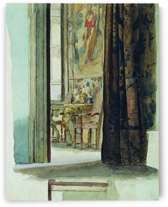 Fragment of interior by Fyodor Bronnikov