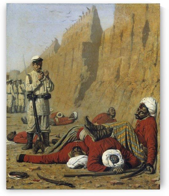 After failure 1868 by Vasily Vasilyevich Vereshchagin