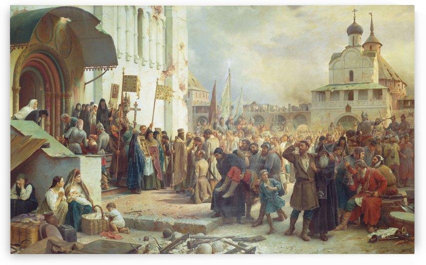 Siege of Troitcko Sergieva Lavra 1891 by Vasily Vasilyevich Vereshchagin
