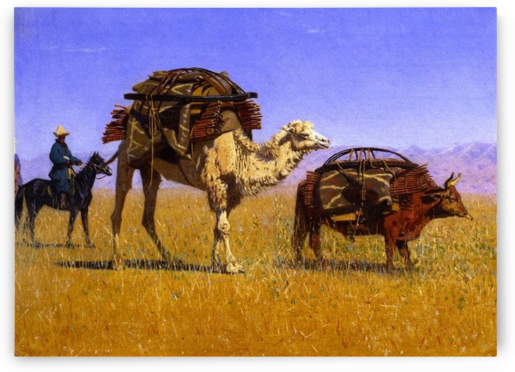 Migration of the Kirghiz by Vasily Vasilyevich Vereshchagin
