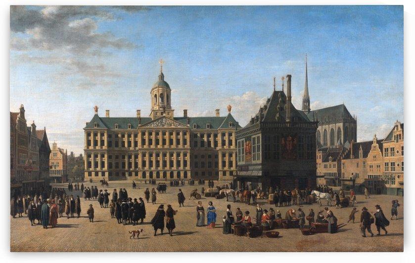 The Dam in Amsterdam by Gerrit Adriaenszoon Berckheyde