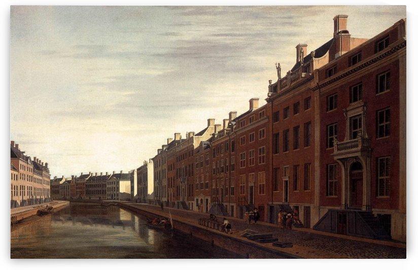 The Bend in the Herengracht in Amsterdam 1672 by Gerrit Adriaenszoon Berckheyde