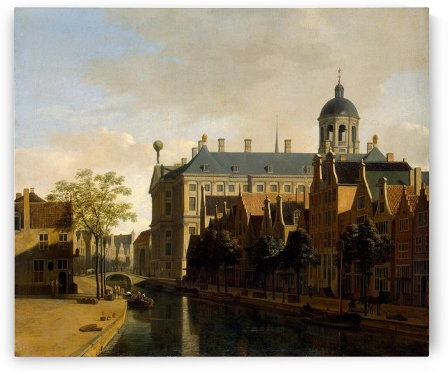 View of the Town Hall in Amsterdam by Gerrit Adriaenszoon Berckheyde