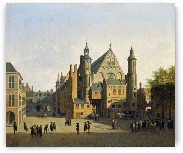 View of the Binnenhof, Hague by Gerrit Adriaenszoon Berckheyde