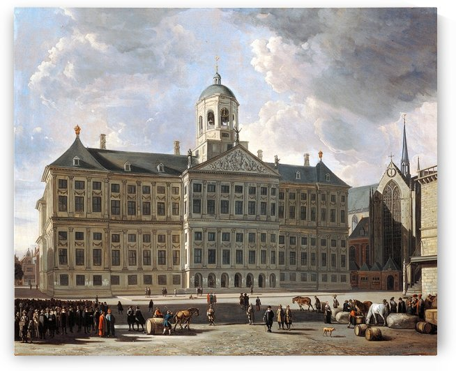 The new City Hall of Amsterdam, 1673 by Gerrit Adriaenszoon Berckheyde