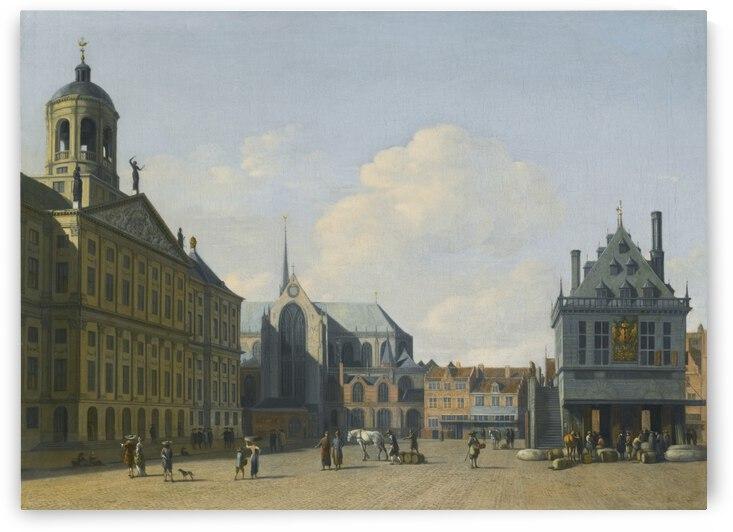 Central Dutch Market by Gerrit Adriaenszoon Berckheyde