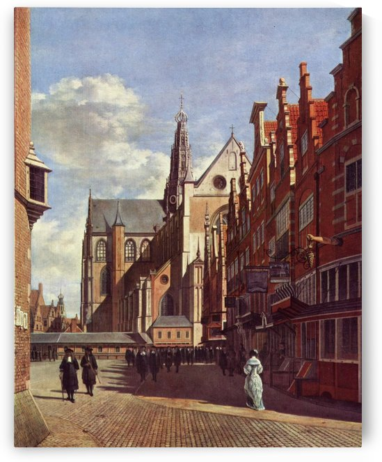 Heading to central market by Gerrit Adriaenszoon Berckheyde