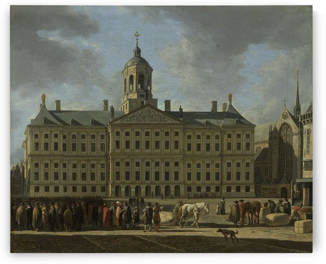 The Town Hall on Dam Square, Amsterdam by Gerrit Adriaenszoon Berckheyde