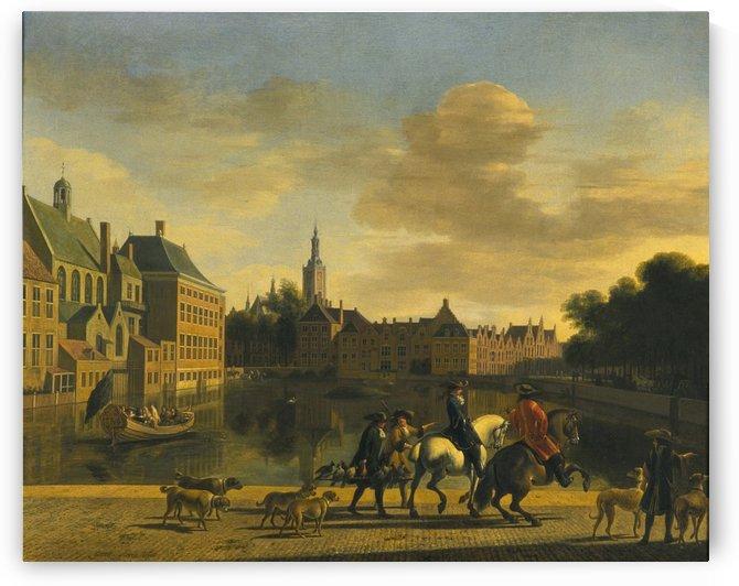 De Hofvijver gezien vanaf de Korte Vijverberg, 1692 by Gerrit Adriaenszoon Berckheyde