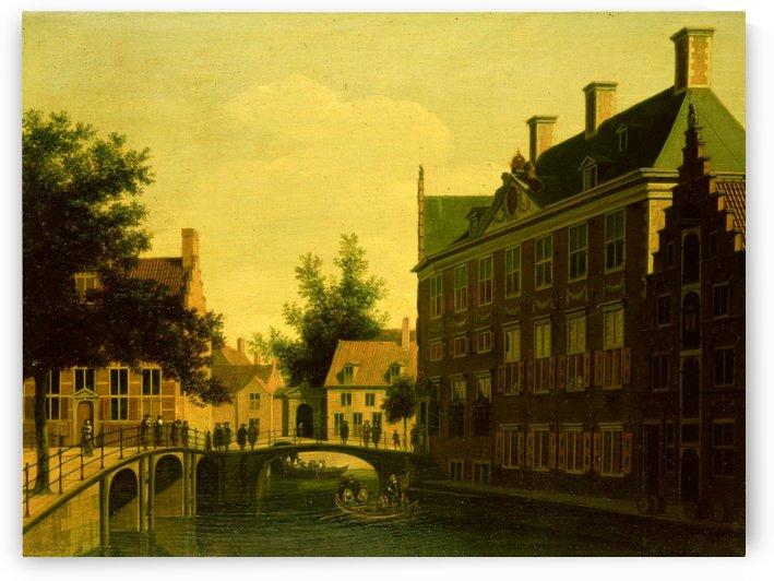 The Old Men Zijds Logement Amsterdam by Gerrit Adriaenszoon Berckheyde