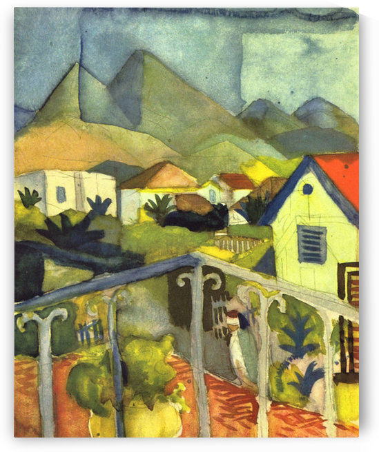 St. Germain at Tunis by August Macke by August Macke