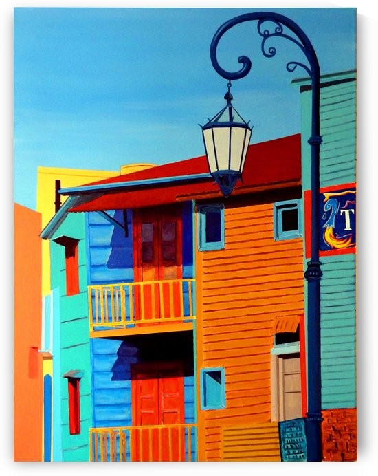 La Boca (Buenos Aires) Street Scene  by Bella Visat Artist