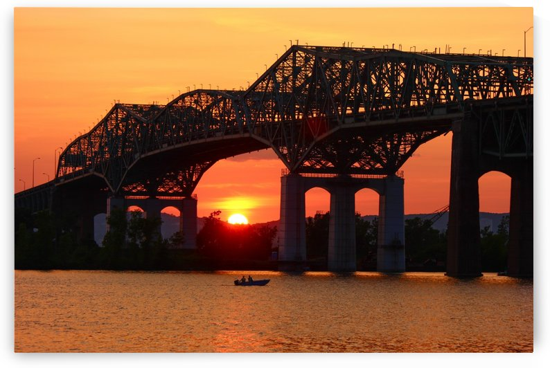 Champlain Bridge sunset by CJNormandeau Photography
