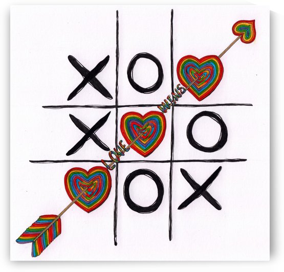Love Wins Drawing by Kent Chua