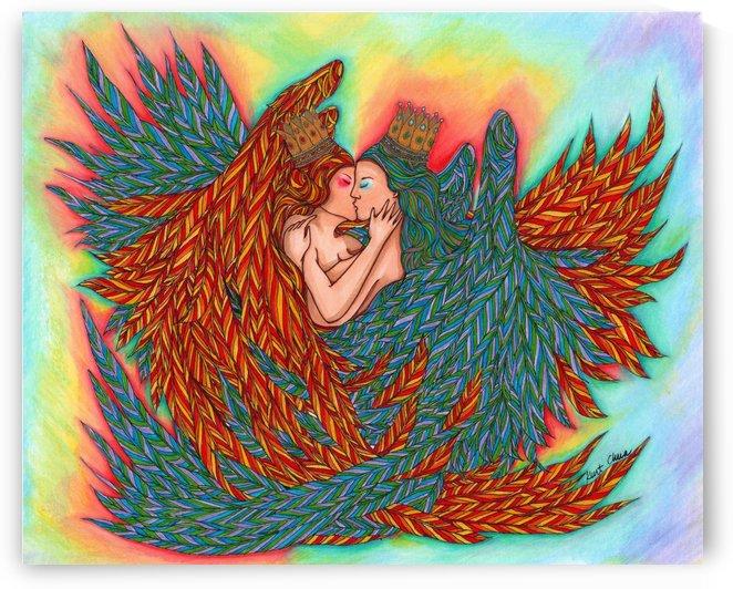 Rainbow Princess Angels Drawing by Kent Chua