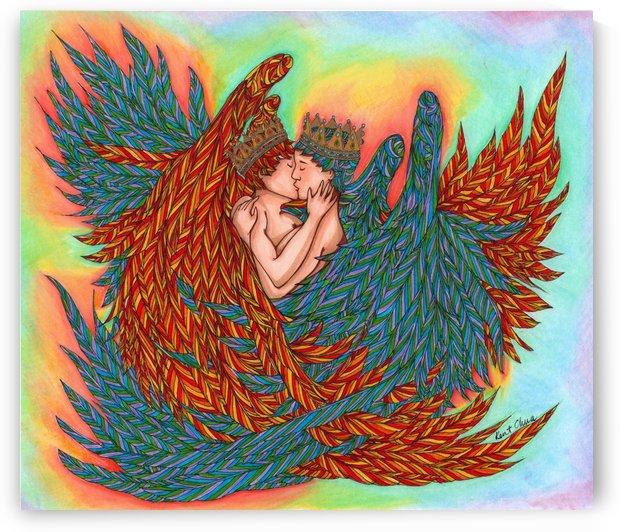 Rainbow Prince Angels Drawing by Kent Chua