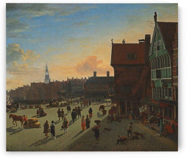 The Dam And Damrak, Amsterdam by Gerrit Adriaenszoon Berckheyde
