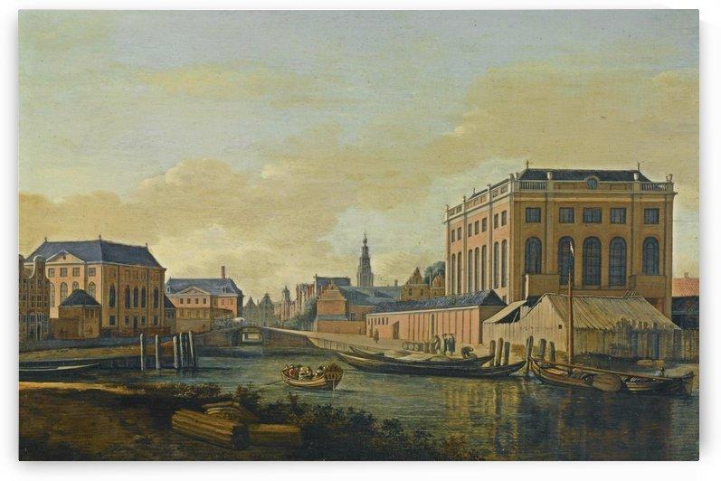 Entering town by Gerrit Adriaenszoon Berckheyde