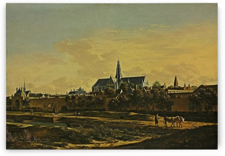 A view of Haarlem from the northwest corner with the Kruispoort and Saint Bavo Cathedral beyond by Gerrit Adriaenszoon Berckheyde