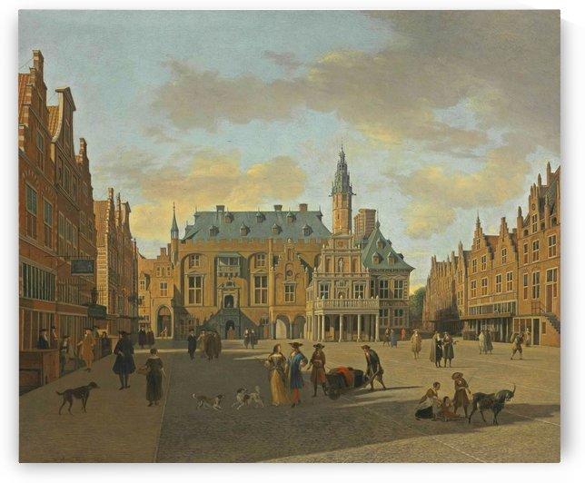 The Grote Markt and Town Hall, Haarlem, seen from the East by Gerrit Adriaenszoon Berckheyde