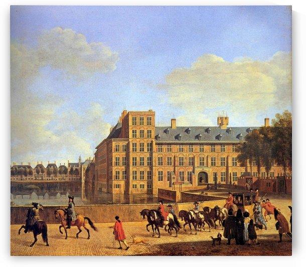The hofvijver in Den Haag Sun by Gerrit Adriaenszoon Berckheyde