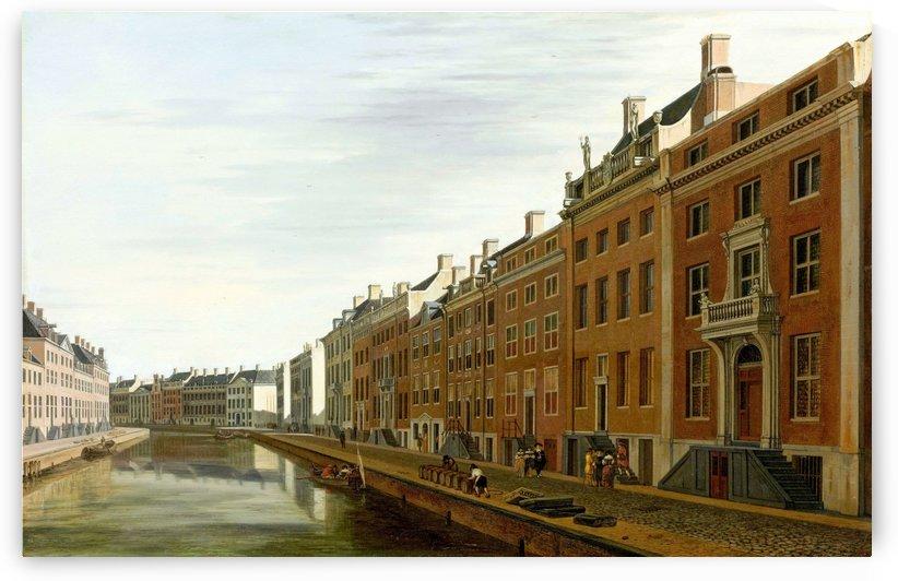 De Gouden Bocht in de Herengracht in Amsterdam vanuit het westen by Gerrit Adriaenszoon Berckheyde