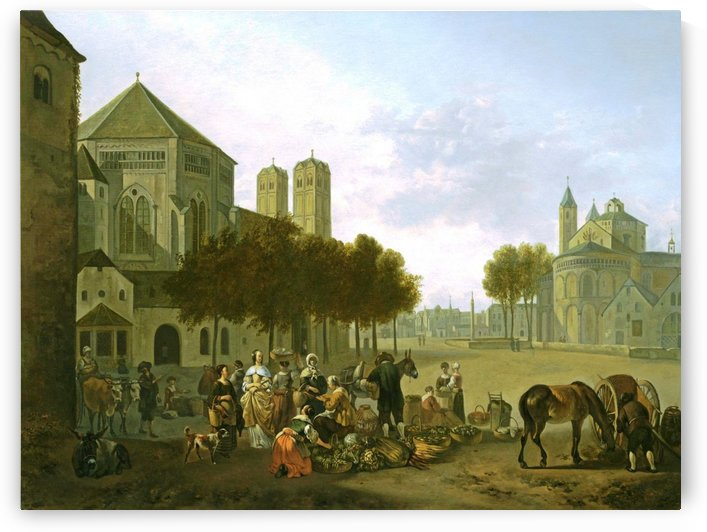 Cologne, a Capriccio View of the Churches of Sankt Gereon by Gerrit Adriaenszoon Berckheyde