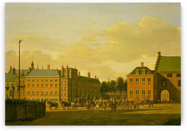Prison Gate and the Stadholder Quarter viewed from the Courtyard by Gerrit Adriaenszoon Berckheyde