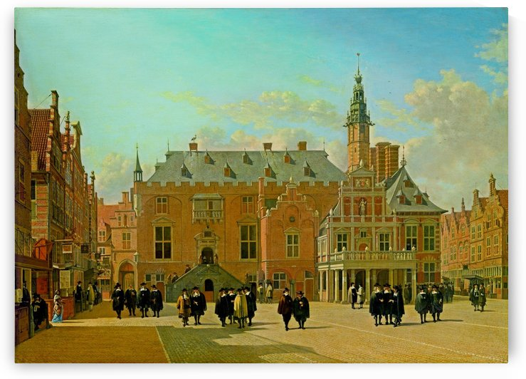 The Market Square in Haarlem with View onto the Town Hall, 1661 by Gerrit Adriaenszoon Berckheyde