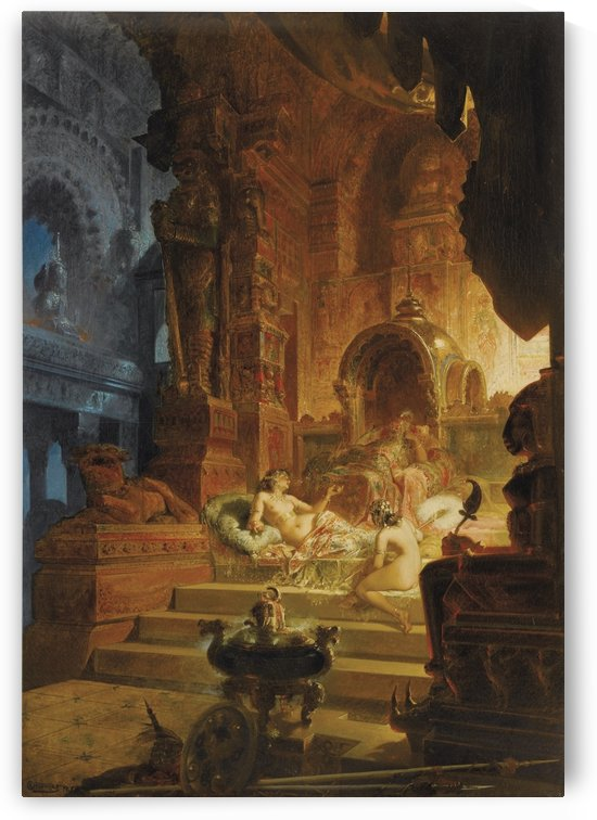 Scheherazade and the Sultan by Alfred Choubrac