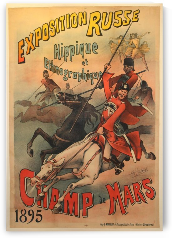 Original Antique Russian Exhibition Advertising Poster by VINTAGE POSTER