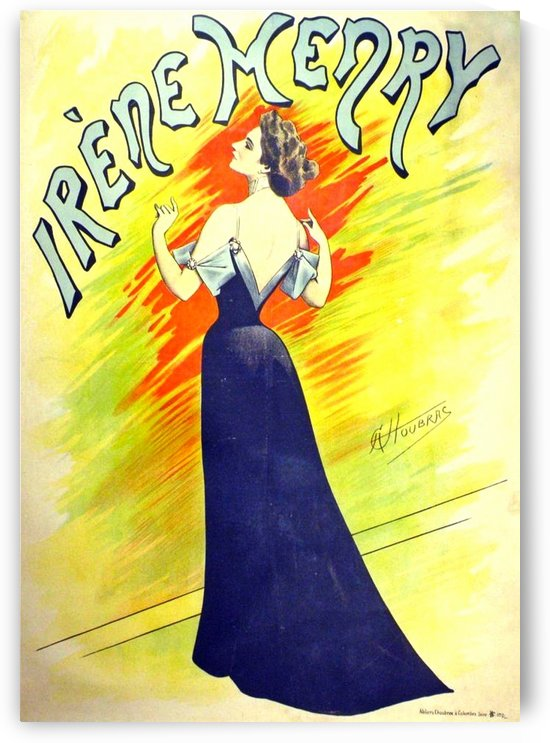 Irene Henry, Antique French Art Nouveau Poster by VINTAGE POSTER