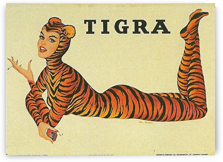 De Moore Tigra Advertising Poster by VINTAGE POSTER