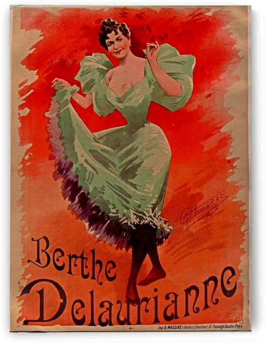 Berthe Delauriane Vintage Poster by VINTAGE POSTER