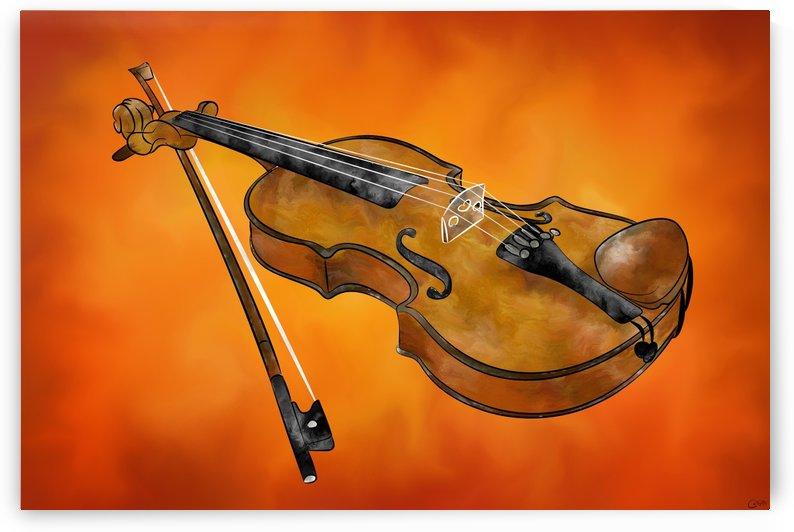 Violessina V1 - instrumental painting by Cersatti Art