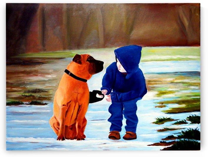 Boy's Best Friend by Bella Visat Artist