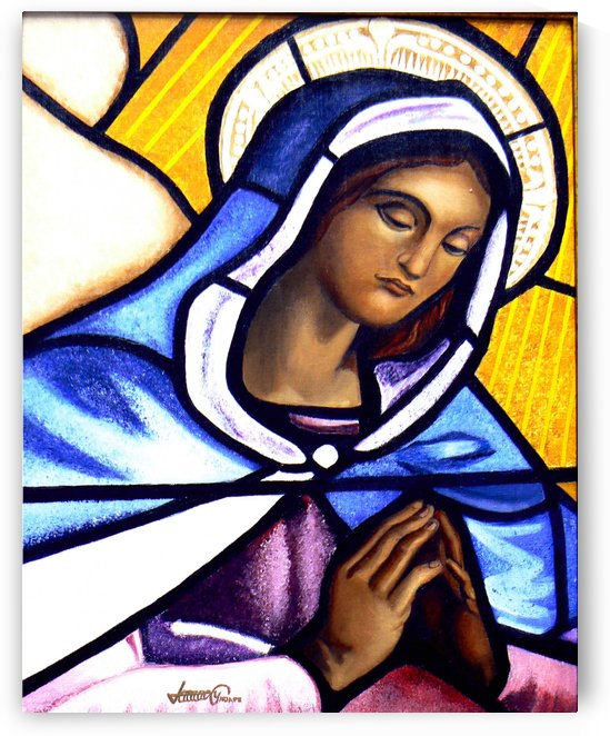 Mary in Glass by Bella Visat Artist