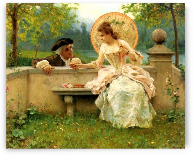 A Tender Moment In The Garden by Federico Andreotti