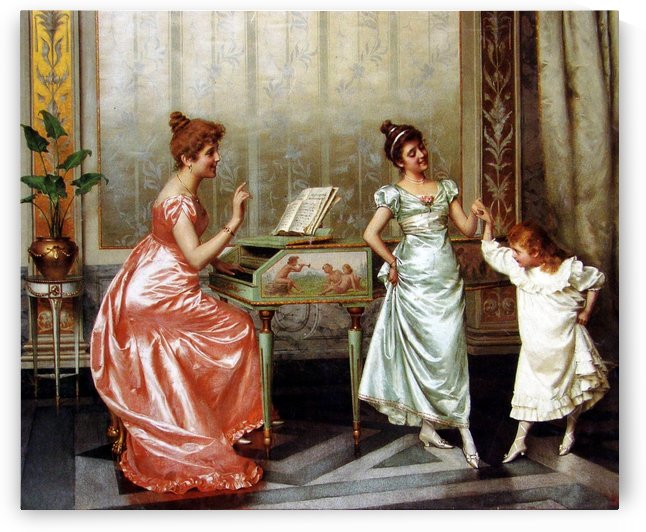 The Dancing Lesson by Vittorio Reggianini