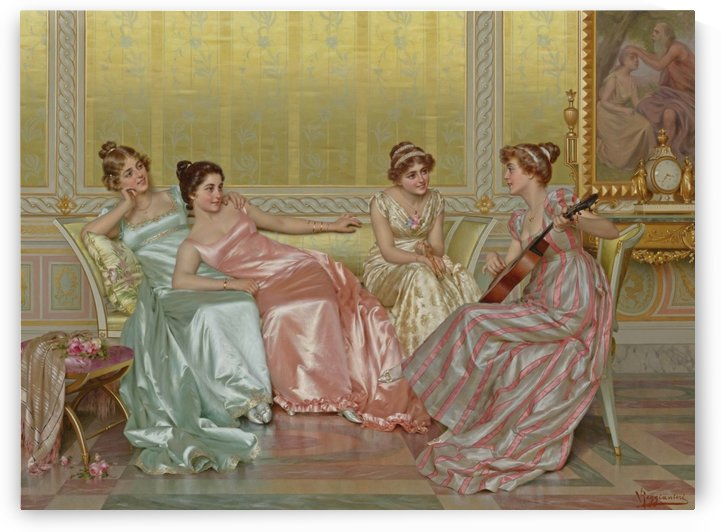 The Evening by Vittorio Reggianini
