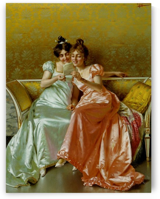 Girls and love letters by Vittorio Reggianini