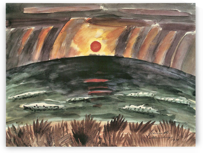 Sunset by Walter Gramatte by Walter Gramatte