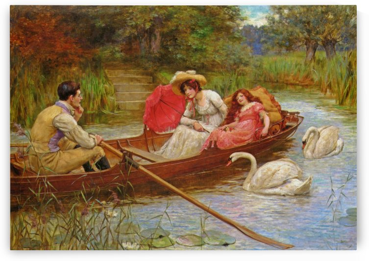 Summer pleasures on the river by George Sheridan Knowles