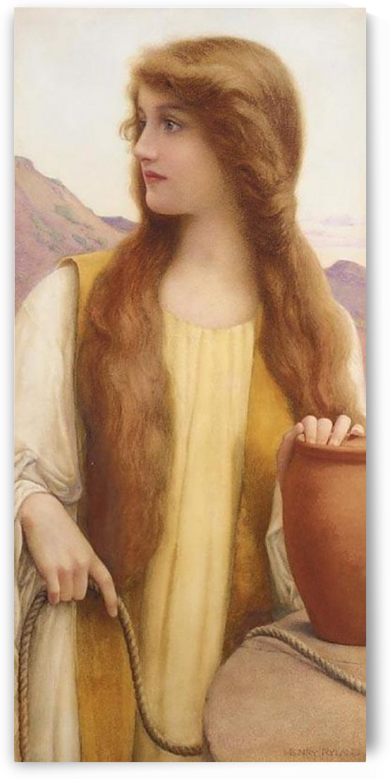Rachel at the well by Henry Ryland